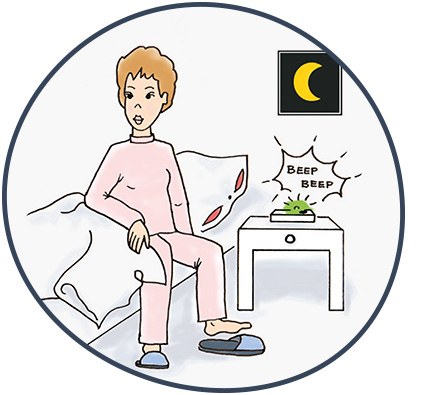 Enutrain Wecktraining - Therapieablauf: In der Nacht